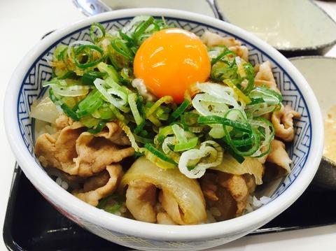 吉野家_豚ねぎ玉丼2